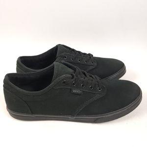 Vans Women's Atwood Low Canvas Skate Shoes Black size 9.5